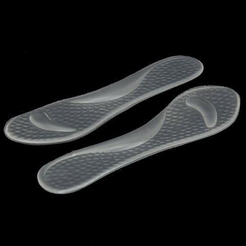 1 pair Transparent Gel Insoles with Forefoot Arch Support Foot Fatigue/ Dtress/ Pain/ Massage