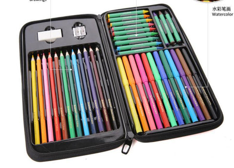 painting Stationery Set / Child crayon drawing / watercolor pen color of lead / exquisite gift box school supplies /tb170810