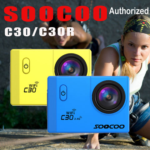 SOOCOO C30 / C30R Action Camera 4K Wifi Ultra HD 1080P Full HD Go Waterproof 30M Mini Cam Pro Bike Outdoor Dv Gyro Sport Camera