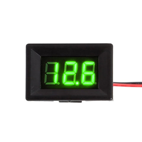 Mini Digital Voltmeter DC Digital Voltmeter Voltage Panel Meter 2 Wires Home Voltage Meters