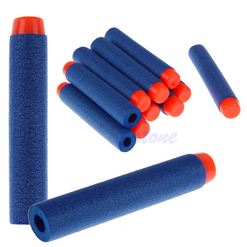 100PCs Soft Hollow Hole Head 7.2cm Refill Darts Toy Gun Bullets for Nerf Series Blasters Xmas Kid Children Gift