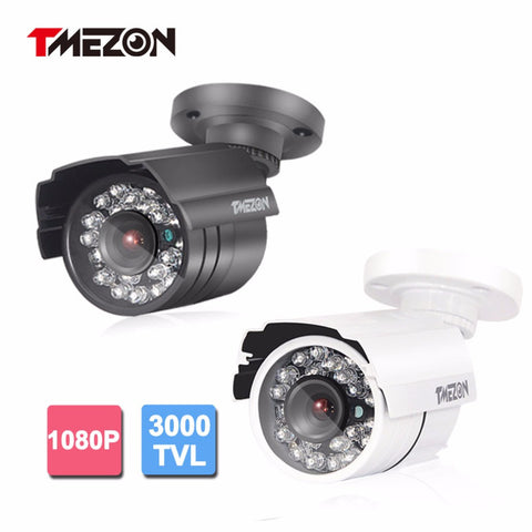 Tmezon AHD 3000TVL 2.0MP 1080P Camera Bullet Metal Home Security Surveillance CCTV Outdoor IR Night Vision 24Led Up to 20m/65ft