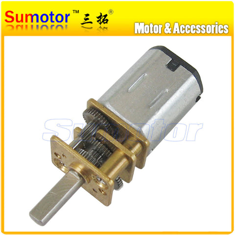 12GA DC 6V Micro Electric Reduction Metal Gear Motor N20 RC smart car Robot model DIY engine Toys Electric door lock Remote lock