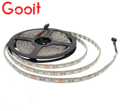 LED Strip 5050 LED lights 12V Flexible Home Decoration Lighting 1/2/3/4/5M LED Tape RGB/White/Warm White/Blue/Green/Red