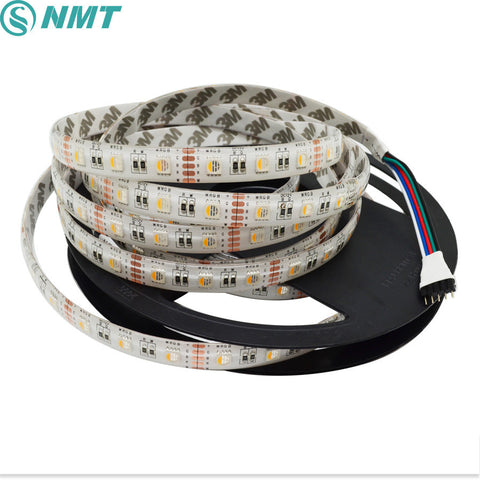 DC12V 5m Led Strip SMD5050 4 in 1 Led Chip RGBW RGBWW Waterproof Flexible LED Light 60led/m indoor outdoor home decoration