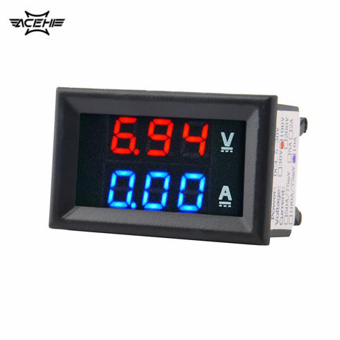 ACEHE Top Quality DC 100V 10A Voltmeter Ammeter Blue + Red LED Amp Dual Digital Volt Meter Gauge Voltage Current Home Use Tool