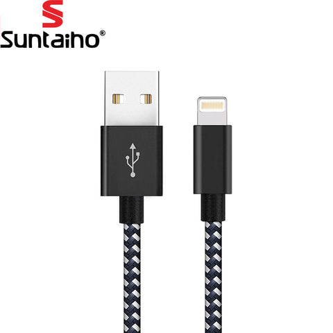 Lighting USB Cable for iPhone 7,Suntaiho 2.1A Nylon USB Cable Fast Charging Data Cable for iPhone 5s 6s Plus iPad Air iPod