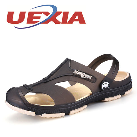 Men Fashion Sandals Summer Men's Slippers Leather Shoes Beach Casual Breathable Home Slippers Men Shoes Flip-Flops Zapatos