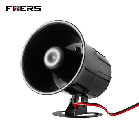 Fuers Wired Alarm Siren Horn Outdoor with Bracket for Home Alarm System Security loudly sound siren