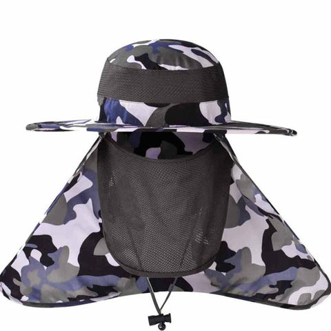 Women Men Outdoor Quick Drying Sun Hat With Face Neck Cover UV Protection Breathable Cycling Climbing Fishing Sunhats Caps C4