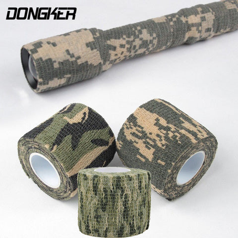 1 Roll Military Camouflage Stretch Bandage Outdoor Hunting Camping 4.5M Bionic Tape Tactical Utility Disguised Refitting Plaster
