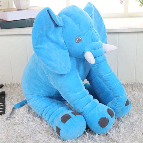 33CM/40CM Height Kawaii Cartoon Large Plush Elephant Toy Kids Sleeping Back Cushion Stuffed Pillow Baby Doll Birthday Gift D25