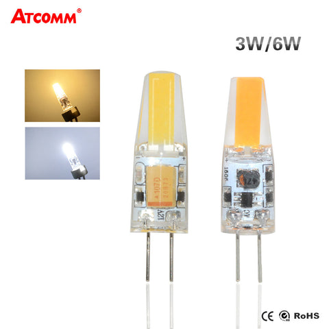 3W 6W G4 LED Diode Bulb AC/DC 12V Flicker-Free COB LED G4 Chandelier Lamp High Brightness 360 Beam Angle Home Indoor Lighting