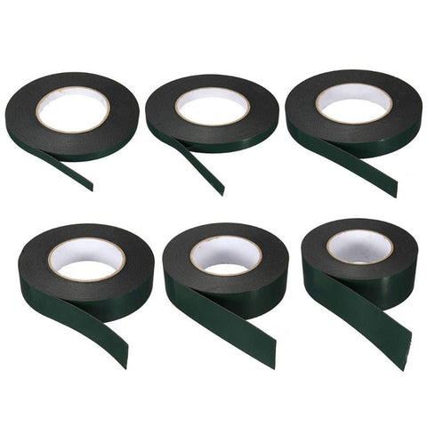 10m Strong Waterproof Adhesive Double Sided Foam Black Tape For Car Trim home Durable