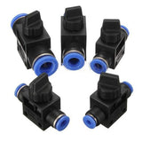 Home Improvement Pneumatic Air 2 Way Quick Fittings Push Connector Tube Hose Plastic 4mm 6mm 8mm 10mm 12mm Pneumatic Parts