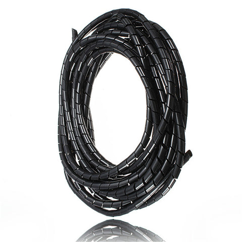 Good Quality 5M 16 Feet Spiral Wire Organizer Wrap Tube Flexible Manage Cord for PC Computer Home Hiding Cable 4-50MM