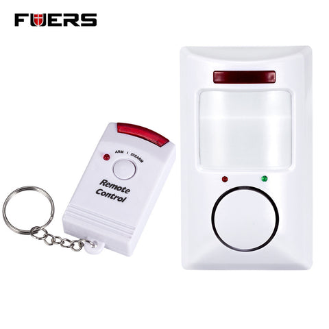 Fuers Home Security PIR MP Alert Infrared  Anti-theft Motion Detector Alarm Monitor Wireless Alarm system+2 remote controller