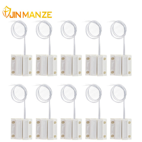10pcs/lot Normally Closed Wired Door Window Sensor 330mm Wire Lengthen Randomly Magnetic Switch Home Alarm System N.C Type