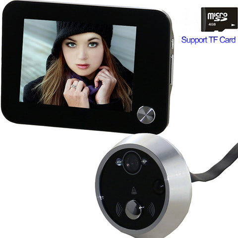 saful Peephole Door Viewer Camera Eye Video Intercom Support TF Card Night Vision Home Security door viewers Free shipping