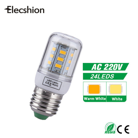 LED E27 AC 220V Bulb light source Spotligh 5730 5736 SMD lamp candle lampada for home daytime running light Furniture umbrella