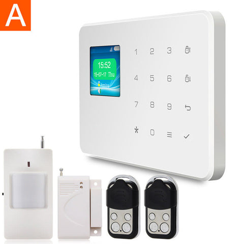 Kervay 433mhz Wireless Gsm Home Security Alarm System With Motion Detector Touch Panel LCD Disply IOS Android APP