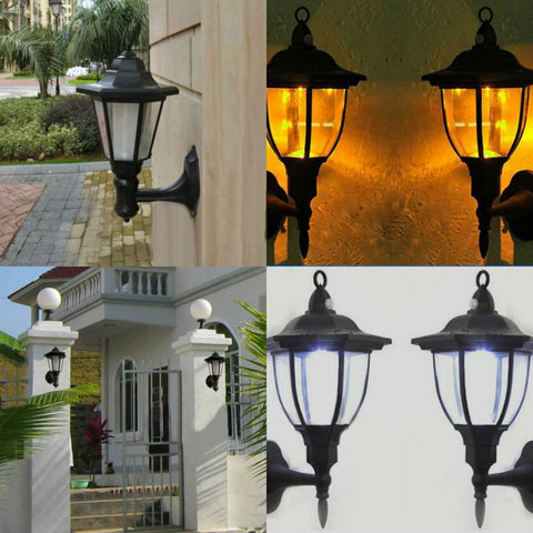 Outdoor Solar Power LED Light Path Way Landscape Mount Garden Fence Home Decoration Wall Street Lamp Cold/Warm Light