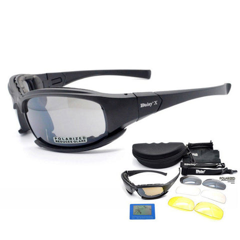OBAOLAY Polarized Tactical X7 Glasses Military Goggles Army Sunglasses With 4 Lens Men Shooting Eyewear Cycling Glasses Gafas
