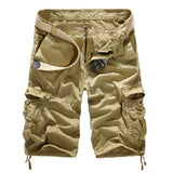 New 2016 Summer Military Army Cargo Shorts Large Size Mens Bermuda Joggers Multi Pockets Fashion Loose Hiking Shorts Men