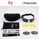 Hot Sale Daisy X7 Polarized Sunglasses Men Polarized Sport Glasses 4 Lens Military Outdoor Activity Eye Protection Goggles