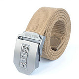 Military Men Pant Belts Canvas cintos Metal Buckle Waist cinto Masculino Strap Striped Army Women Duty Combat Tactical Pants New