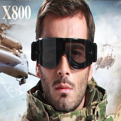 Tactical Airsoft Glasses X800 Hunting Military Goggles 3 Lenses Outdoor Shooting Eyewear Hiking Paintball Sport Sunglasses Men
