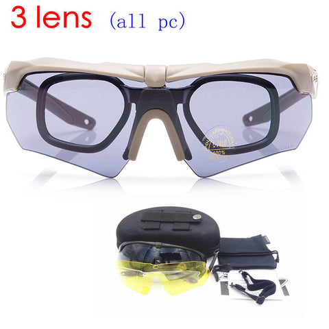 Tactical Glasses Military Goggles TR90 Bullet-proof Army Sunglasses With 3 Lens Original Box Men Shooting Eyewear Gafas