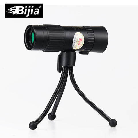 BIJIA 15-80x25 pocket mini zoom monocular high quality Pocket waterproof military telescope with tripod