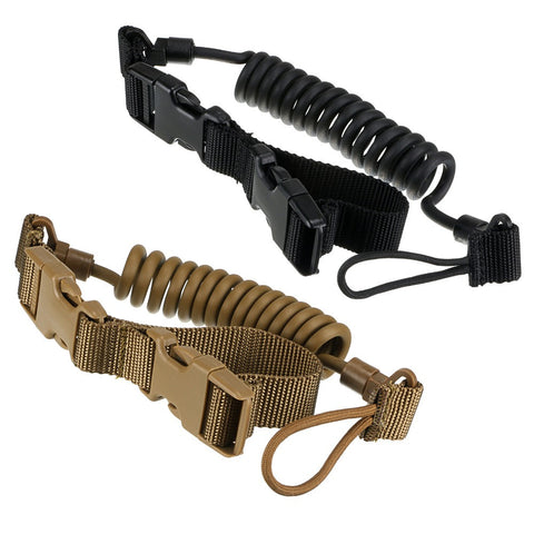 Black Tactical Two Point Rifle Sling Adjustable Bungee Tactical Airsoft Gun Strap System Paintball Gun Sling for Airsoft Hunting