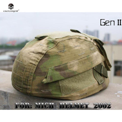 Emerson Tactical Camouflage Nylon Helmet Cover for MICH 2002 Ver2 Military Paintball Army Helmet Cloth Cover Helmet Acessories