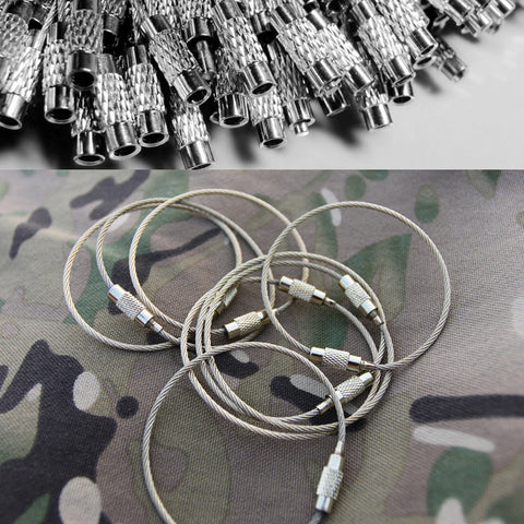 10 Pcs/Pack Stainless Steel EDC Multi Rings Outdoor Fly Fishing Airsoft Paintball Military Hunting Combat Mini Survival Tool Kit