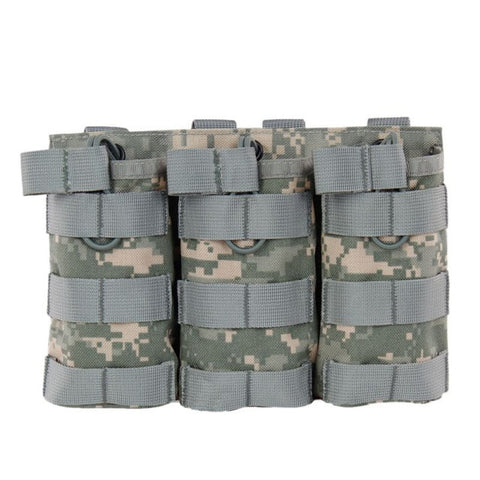 Tactical MOLLE Triple Open-Top Magazine Pouch FAST AK AR M4 FAMAS Mag Pouch 1000D Nylon Military Paintball Equipment