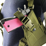 Adjustable Nylon Armpit Pistol Holster for Paintball Wargame Tactical Combat Shoulder Pouch