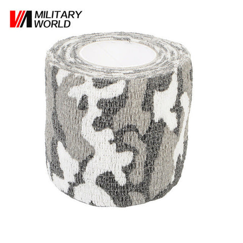 4.5M Military Tactical 1 Roll Camo Stretch Bandage Elastic Paintball Camping Hunting Multi-functional Camouflage Gun Tape