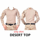 Camouflage tactical military clothing paintball army cargo pants combat trousers multicam militar tactical  shirt with knee pads
