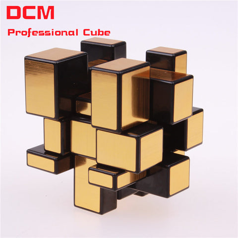 Fidget cube 3x3x3 Magic Mirror Cub Gold/Silver cubo stress magico Cast Coated Puzzle Speed Twist learning & education kids Toys