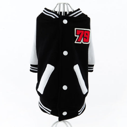 HOOPET Fashion Pet Clothes Sportive Style Outwear Puppy Cat Small Dog Cool Baseball Uniform Coat Spring Autumn