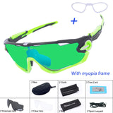 SALE ! 3 Lens Mens Polarized Brand Cycling Glasses Mountain Bike Goggles Sports Eyewear Bicycle Sunglasses Outdoor Goggles