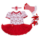 Infant Baby Girl Suumer Suit Novelty Costume Baby Christmas Clothing Sets Bebe Rompers Birthday Party Cosplay Gift 3 6-9 12 18M