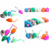 Lowest Price! 11cm New Lovely Bright Coloured Little Funny Cute Mouse Toys For Cat Pets Training teasing