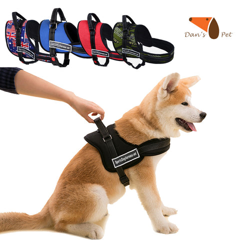Soft Nylon Cotton Padded Pet Medium Large Dog Durable Vest Harness Personalized Walking Running Harness for Medium Large Dogs