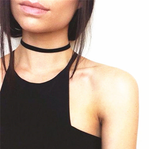 2 Pcs 2017 Vintage Retro Black Velvet Choker Necklace Women Chokers Necklaces Chocker collares mujer Collier ras de cou