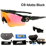 Queshark Polarized Cycling Sunglasses Racing Bicycle Goggles Bike Glasses UV400 TR90 3 Lens Tour De France Cycling Eyewear