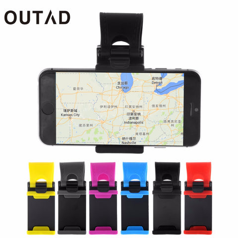 OUTAD Car Steering Wheel Bike Clip Mount Holder Rubber Band For iPhone 6 6s 5 5s For iPod MP4 GPS Mobile Phone Holders car cover