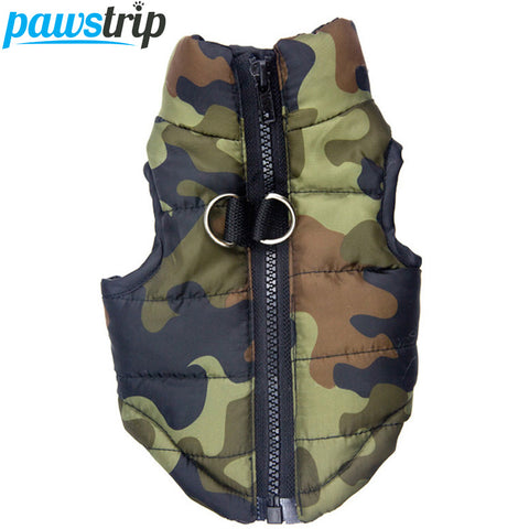Waterproof Dog Coat Winter Puppy Clothes Camo Pattern Small Dog Jacket Chihuahua Yorkie Clothing